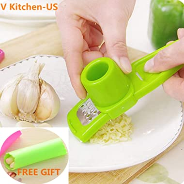 Candy Color Garlic Press Multifunctional Ginger Garlic Press Mini Ginger Grinding Grater Planer Slicer Cutter Kitchen Cooking Gadgets Tools Utensils Accessories