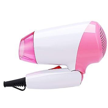 Secador de Pelo Compacto, secador Profesional del Soplo del Viaje de 1000W, secador Potente para el Dormitorio casero del día de Fiesta o de la Escuela: ...
