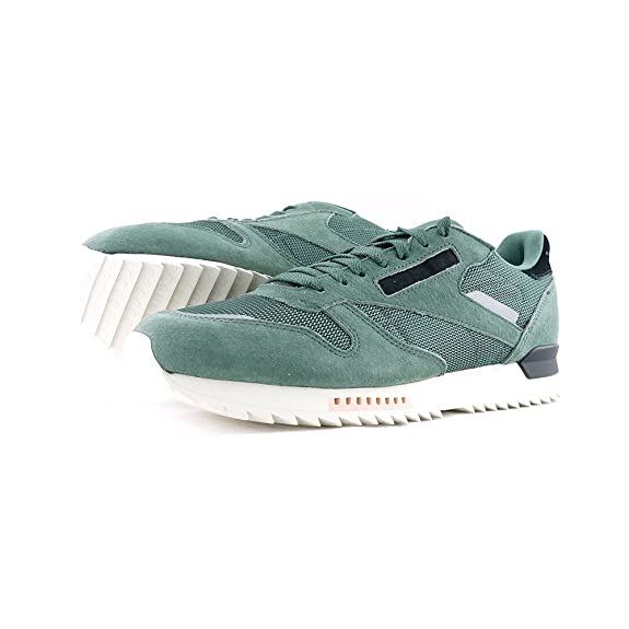 90f5c6af9c6f1 Reebok CL Leather Ripple S - BS9788 - Color Green - Size  9.5   Amazon.co.uk  Shoes   Bags