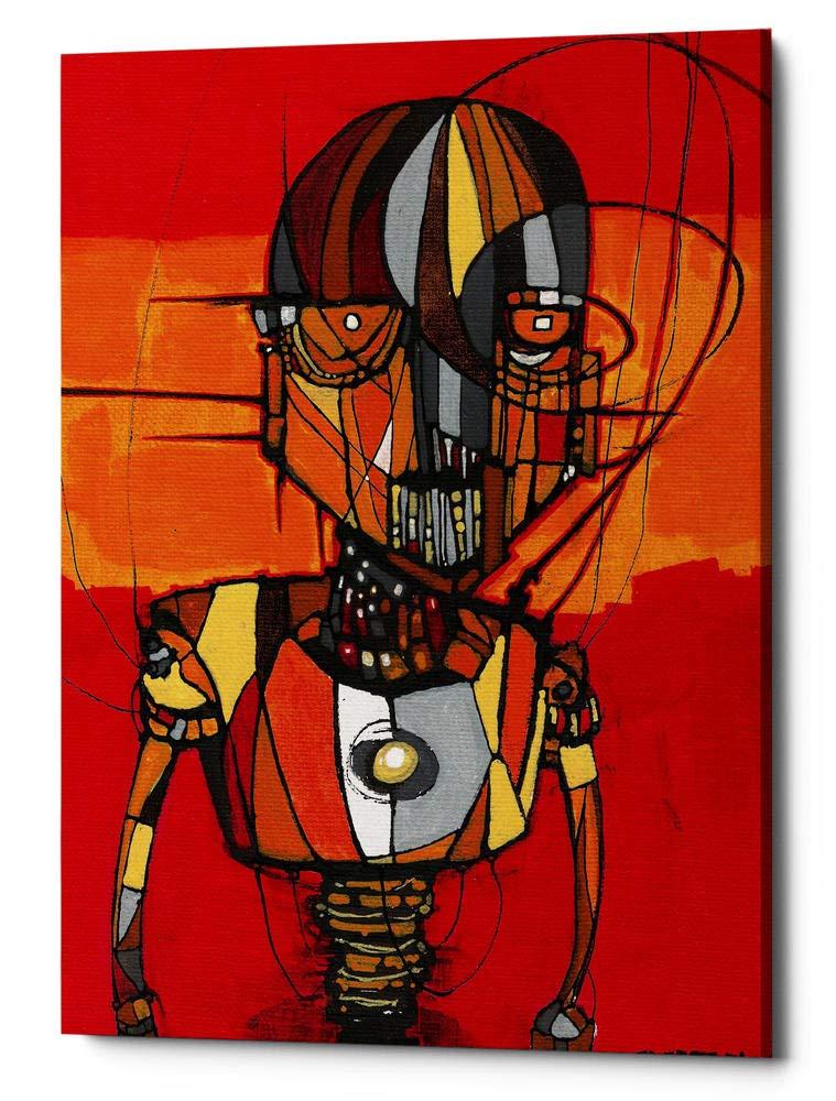 Epic GraffitiSegmented Man Orange by Craig Snodgrass Giclee Canvas Wall Art 18 x 26
