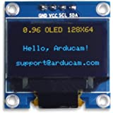 UCTRONICS 0.96 Inch OLED Module 12864 128x64 Yellow Blue SSD1306 Driver I2C Serial Self-Luminous Display Board for…