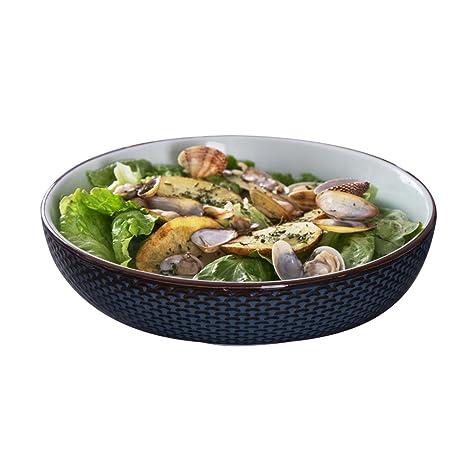 LJF Cuenco de Sopa de cerámica, Plato de Sopa Cubiertos de Restaurante Cuenco Grande Cuenco