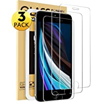 [3-Pack] Mkeke Compatible with iPhone SE Screen Protector 2020, Tempered Glass Screen Protector for iPhone 8/7 and iPhone 6 / 6s, [with Easy-Installation Tool][4.7 inch]