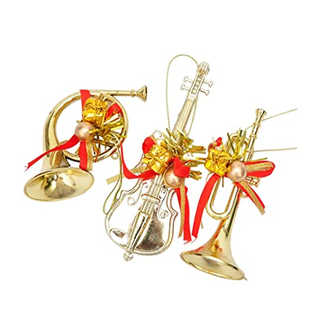 Image Unavailable. Image not available for. Color: BESTOYARD 3pcs Christmas  Tree Musical Instrument Ornaments ... - Amazon.com: BESTOYARD 3pcs Christmas Tree Musical Instrument