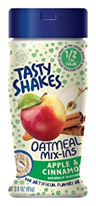 Tasty Shakes Oatmeal Mix-ins, Apple Cinnamon, 3 Ounce (Pack of 6)