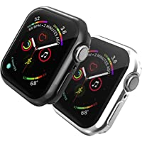 TERSELY[2 Pack] Case Overall Protector for Apple Watch Series 6/SE/5/4 40mm, Full Coverage Protection Bumper All-Around…