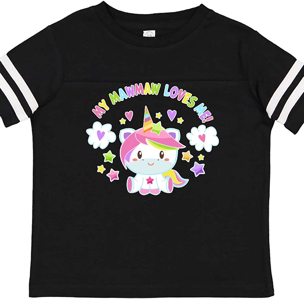 inktastic My Mawmaw Loves Me with Cute Rainbow Unicorn Toddler T-Shirt