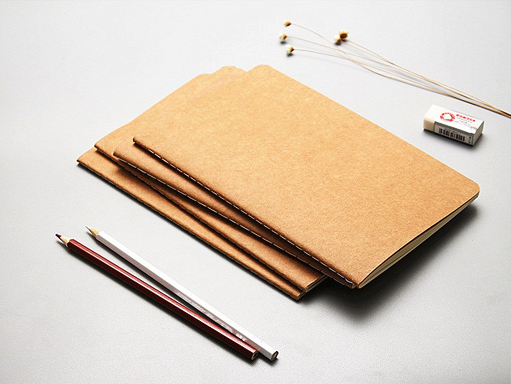 6pcs Travelers' Notebook Thread-bound Journal Diary Memo Pad,A5 Size & 30 sheets(Ruled Pages) by Alimitopia (Image #6)