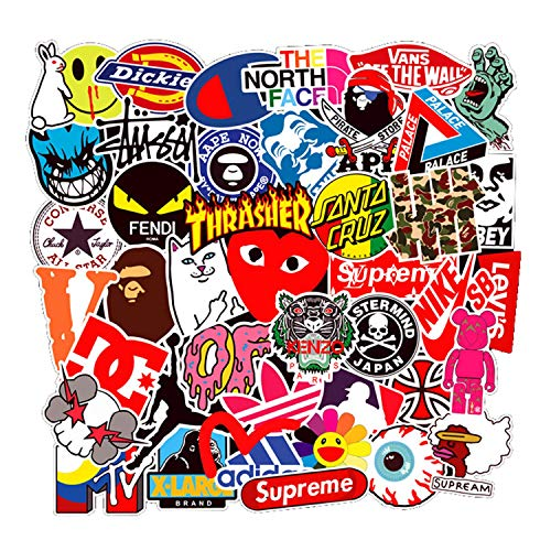Fashion Sticker - 100 Pcs Fashion Brand Stickers for Laptop Stickers Motorcycle Bicycle Skateboard Luggage Decal Graffiti Patches Stickers for [No-Duplicate Sticker Pack]