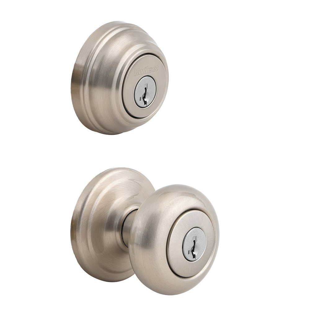 Kwikset 992 Juno Entry Knob And Double Cylinder Deadbolt Keyed On