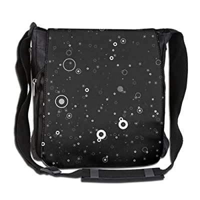Abstract Galaxy Space Ring Messenger Bag With Adjustable Shoulder Strap Unisex Zip-top Wide Mouth Open Tool Tote Anti-Theft Design 26 X 30 X 16 Cm