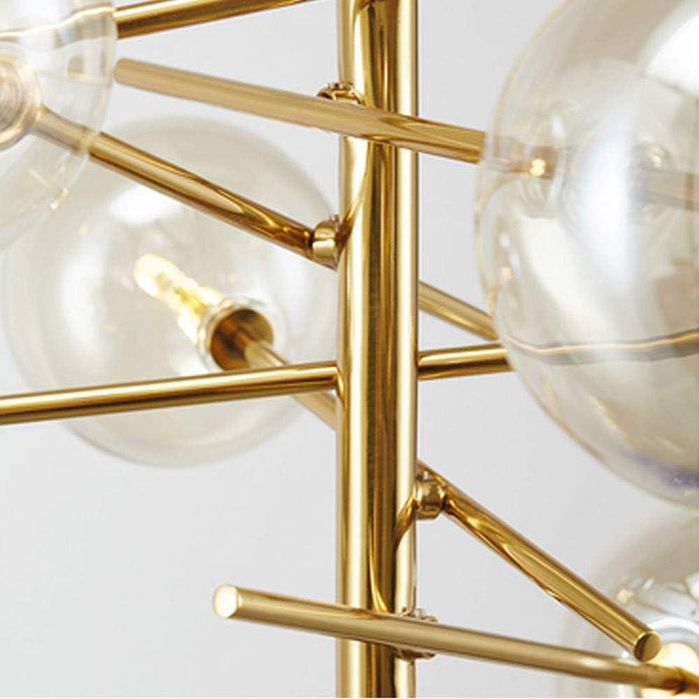 LED Moderne Kronleuchter L/üster Gold 6 Glaskugeln Lampenschirm Pendelleuchte Kronleuchter L/üster f/ür Wohnzimmer Schlafzimmer G4 Ohne Gl/ühbirne