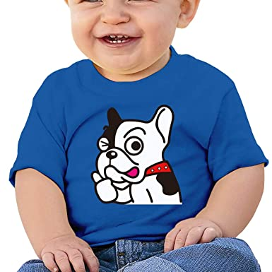 XHX403 Cute French Bulldog Infant Kids T Shirt Cotton Tee Toddler Baby 6-18M