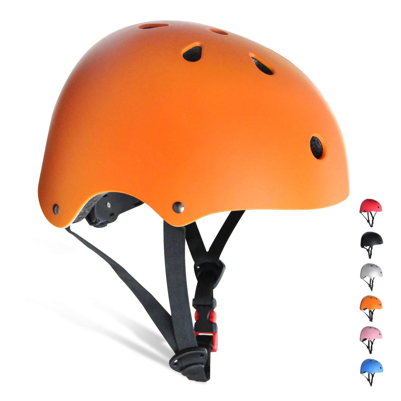 KORIMEFA Kids/Teen/Adult Bike Helmet Toddler Helmet Adjustable Kids Helmet CPSC Certified Multi-Sport Safety Cycling Skateboard Scooter Helmet, Orange M