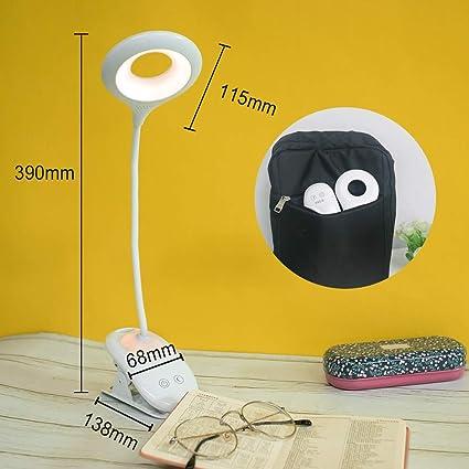 ordinateur t/ête de lit piano lit table Lampe de lecture /à clip /à LED Lampe de pince rechargeable USB pour bureau dimmer 3 niveaux commutateur tactile
