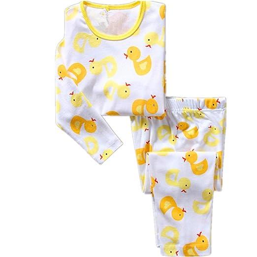 a99413a9199d3 Amazon.com: Hooyi Baby Boy Sleepwear Cotton Children Duck Pajamas ...