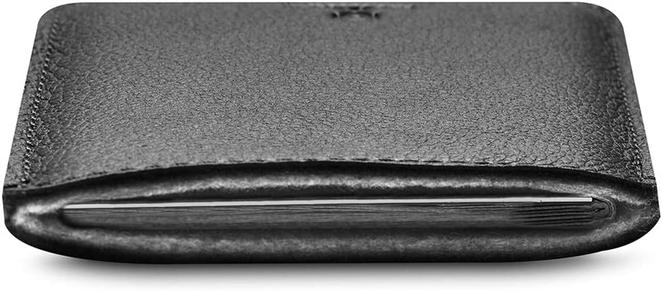 Woolnut Passport Leather Travel Sleeve Case Cover Black