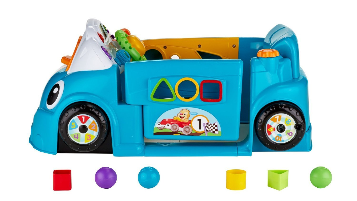 Fisher-Price Laugh & Learn Smart Stages Crawl Around Car, Blue by Fisher-Price (Image #11)