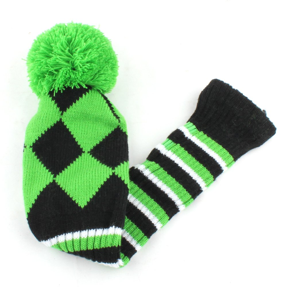 Amazon golf club knit head cover 3pcs headcover set vintange amazon golf club knit head cover 3pcs headcover set vintange pom pom sock covers 1 3 5 green black sports outdoors bankloansurffo Gallery