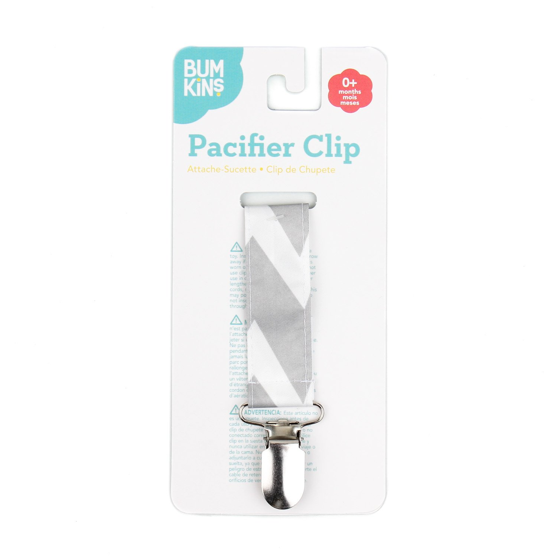 Bumkins Pacifier Clip, Blue Fizz