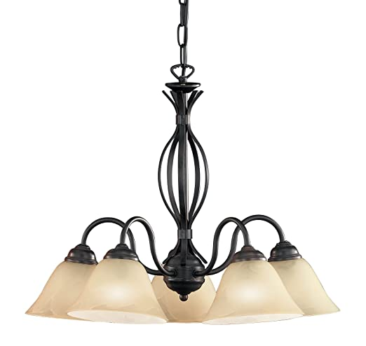 Honsel Leuchten Krone Colonial 15295 - Lámpara de techo