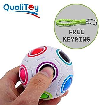 Qualitoy Bola de colores para niños y adultos de gran calidad con llavero  de regalo e9ff316bbcd65