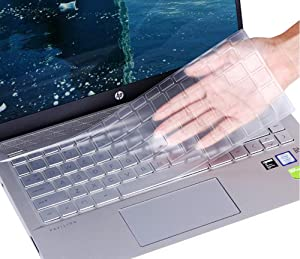 """Clear Keyboard Cover for 2019 2018 HP Pavilion x360 14"""" Laptop 14t 14-CD 14M-BA 14M-CD 14-BF 14-BW 14-cm 14-CF Series/2019 HP Sream 14-ds0050nr 14-ds0060nr 14"""" Laptop Skin Accessories"""