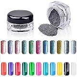 6 Colors 2g/box Rainbow Nail Powders Shimmer Glitter Powder