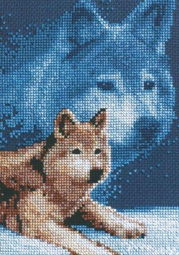 Janlynn Cross Stitch Kit, 7-Inch by 5-Inch, Wolf