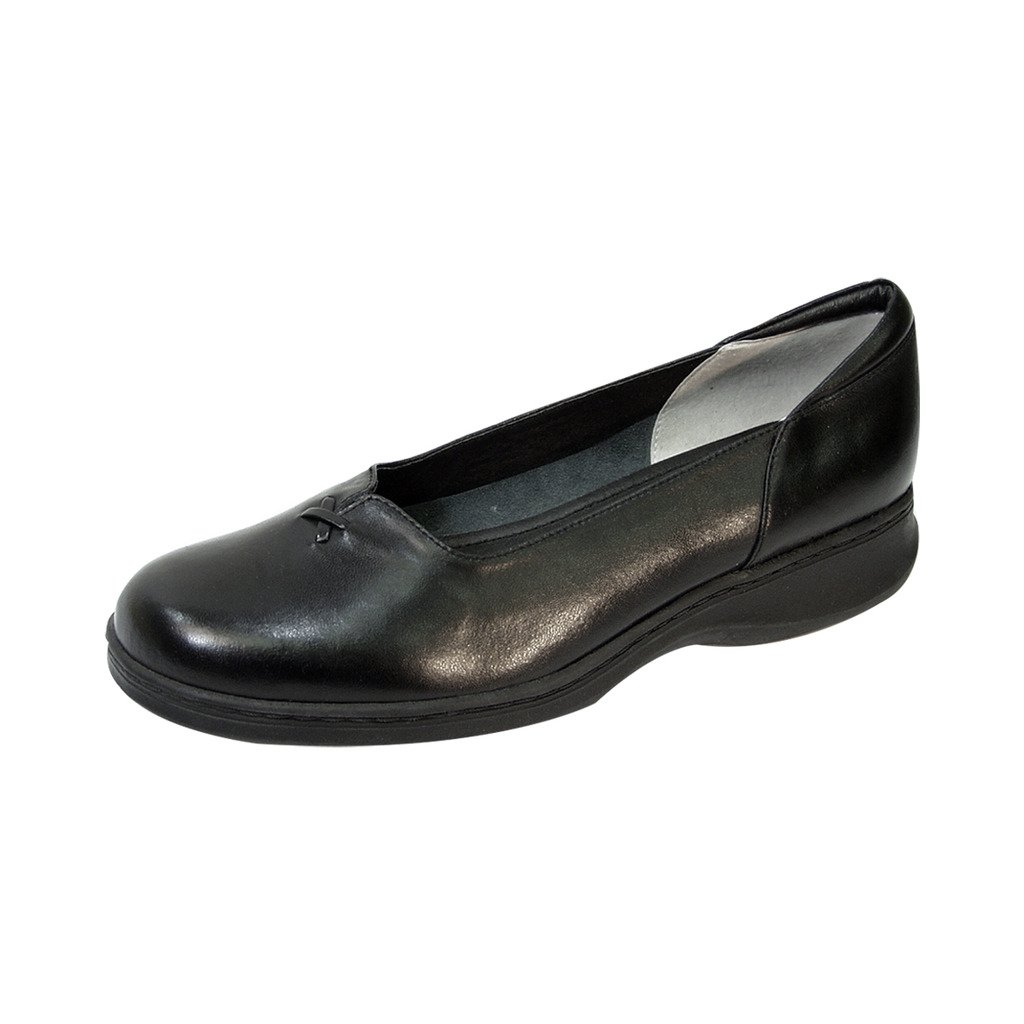 24 Hour Comfort  Cali (1036) Women Wide Width Leather Shoes Black 8