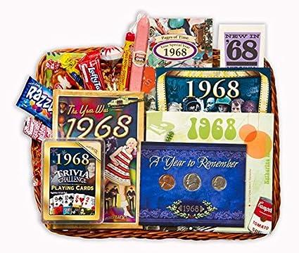 50th Wedding Anniversary Or Birthday Gift Basket