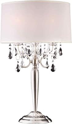 Ok lighting ok 5109t crystal silver table lamp 16 x 16 x 30 ore international k 5109t crystal table lamp 17 x 17 x 295 aloadofball Images