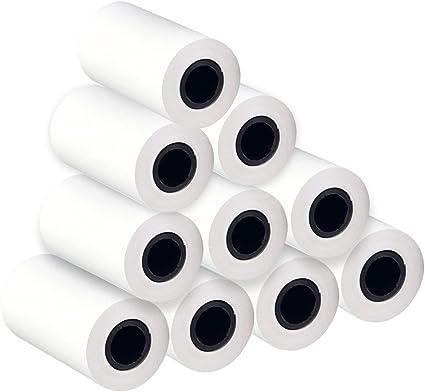 10 rollo Rollo de papel térmico registro recibo rollo para móviles ...