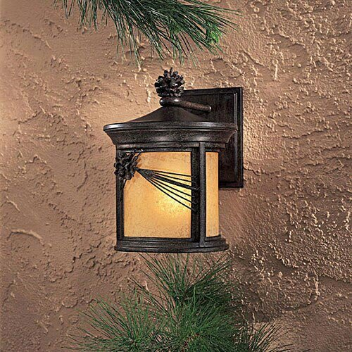 Minka Lavery 9152-357-PL 1-Light Wall Mount in Iron Oxide Finish w/ Double French Scavo Glass - 357 Pl Wall