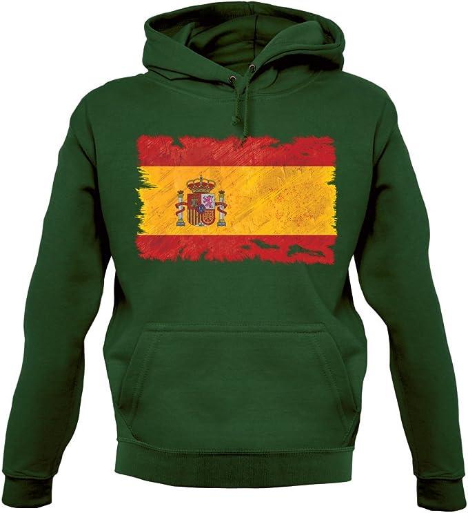 Dressdown ESPAÑA Grunge Estilo Bandera - Sudadera Capucha Unisex/Sudadera con Capucha - 12 Colores - Verde Botella, XX-Large: Amazon.es: Ropa y accesorios