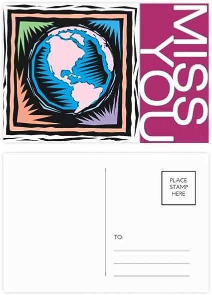 DIYthinker Misteriosa azul de la tierra mexicana Elemento de grabado señorita tarjetas postales establecido Gracias tarjeta de correo lateral 20Pcs 5,7 pulgadas x 3,8 pulgadas Multicolor: Amazon.es: Oficina y papelería