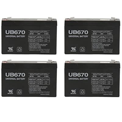 Universal Power Group 6V 7AH SLA Battery Replaces PS-670 GP672 LC-R067R2P NP7-6 PE6V8 UB670-4 Pack : General Use Batteries : Sports & Outdoors