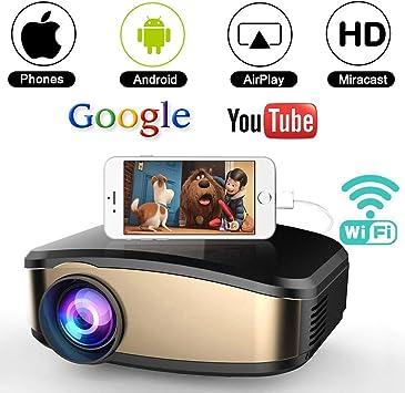 Amazon.com: WEILIANTE Proyector de video WiFi, proyector de ...