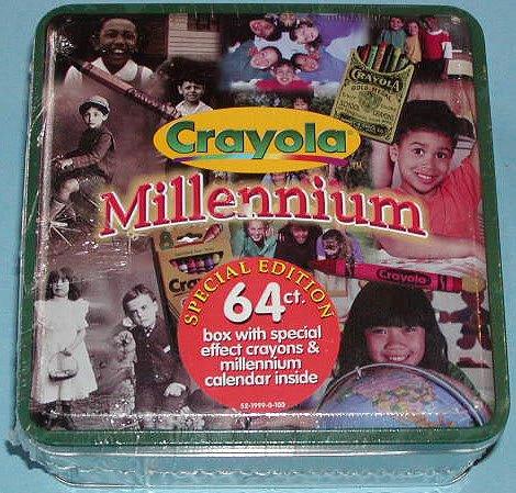 1999 Crayola Millennium Special Edition 64 count Tin