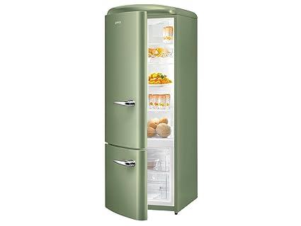 Gorenje Kühlschrank Retro : Gorenje rk 60319 ooll kühl gefrierkombination olive grün retro