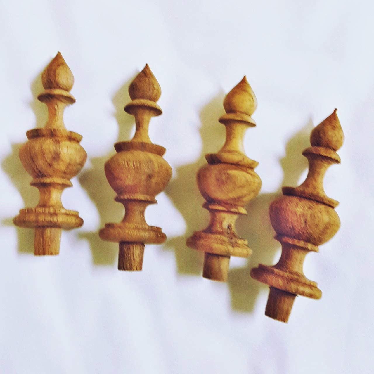 """darasae0 4x3.25""""New Finials Teak Wood Unfinished Wooden Antique Furniture,Post Home Decor"""