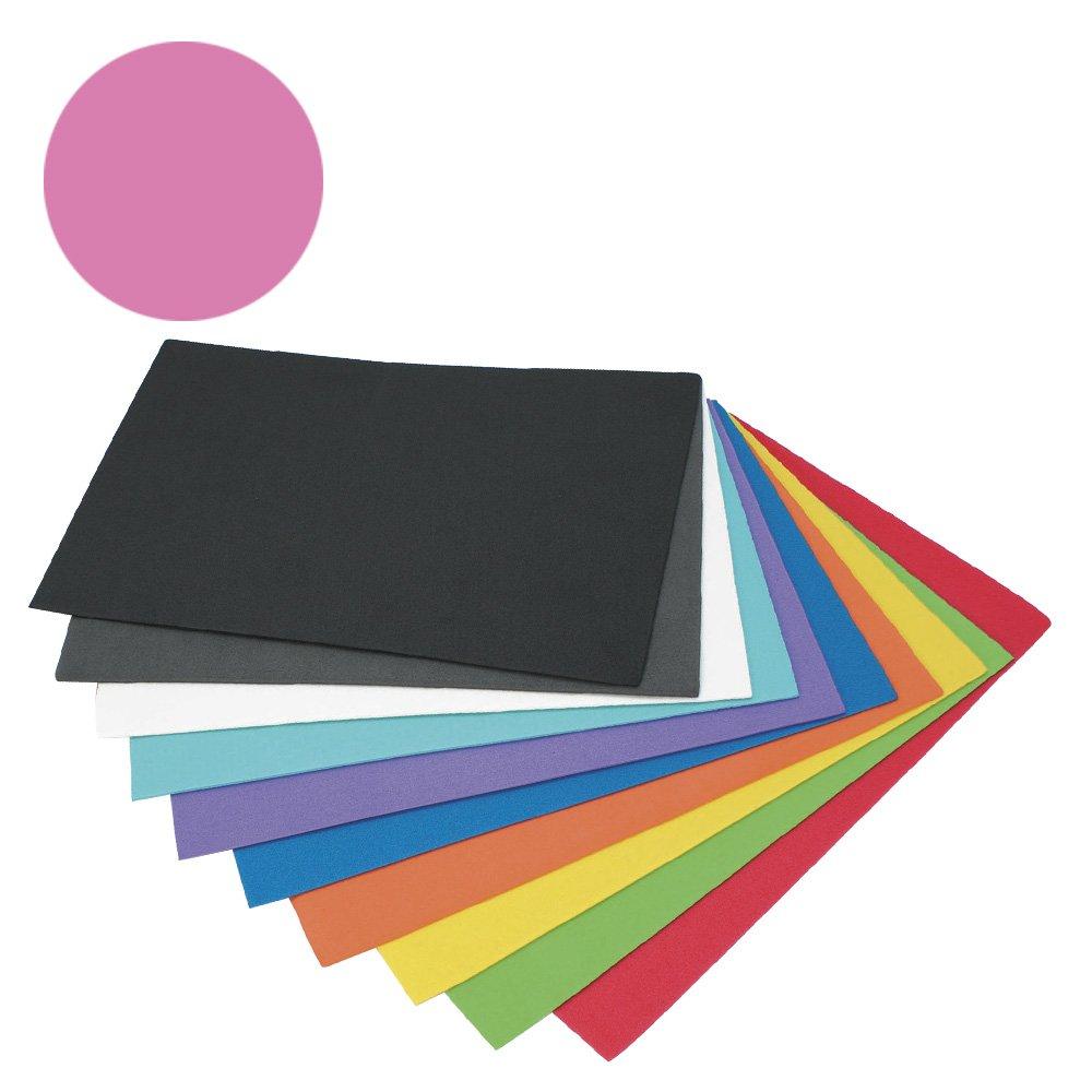 Campus University Ave-5065-PK-Fogli di schiuma, 2 mm, 10 pezzi, 40 x 60 mm, colore: rosa Makro Paper SP.SL EVA-5065-PK