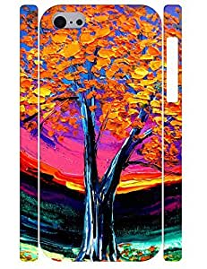 Design Kawaii Painting Tree High Impact Phone Cover for Iphone 5C