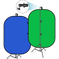 Neewer 5x7 Inch Chromakey Blue-Green Collapsible Backdrop