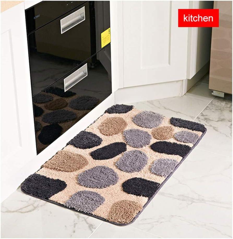 Zyhlf Adoquines Impermeables Antideslizante Piso Mat, alfombras Dormitorio alfombras WC Escalera felpudos Felpudo artesanía Puerta Cocina 40x60cm: Amazon.es: Hogar