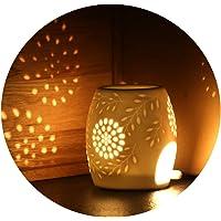 Ecooe Brûleur à Huile Céramique Huile Essentielle Parfum Lampes Lampe de Parfum Chambre Bougie Aromathérapie Huiles Essentielles