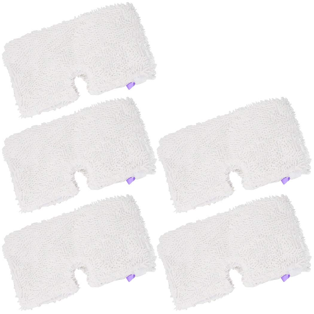 Ugardo 5-PK Washable Steam Mop Pads Replacement for Shark Steam Pocket Mops S3500,S3501,S3601,S3550,S3901,S3801,SE450,S2902,XT3601, White