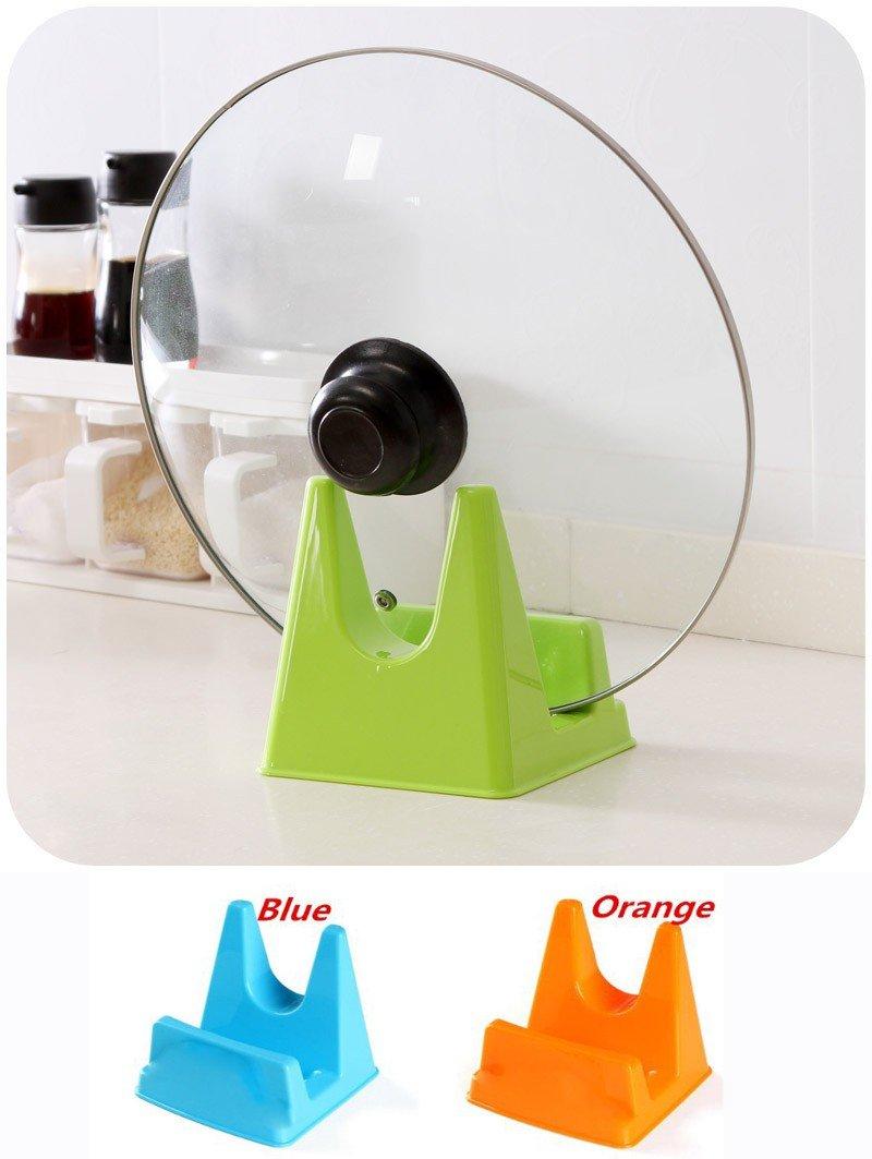 takestop® Supporto Porta Coperchio PENTOLA PORTACOPERCHIO Tappo Stand Sostegno PLASTICA Cucina Accessori Colore Casuale MOON P1001511