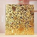 Ksmxos Frame Cover Photo Album 600 Pockets Holds 4x6 Photos Gold