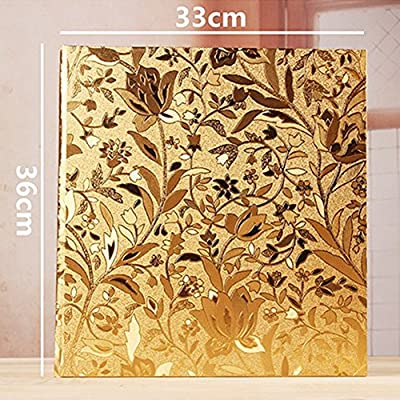 Ksmxos Frame Cover Photo Album 600 Pockets Holds 4x6 Photos Gold